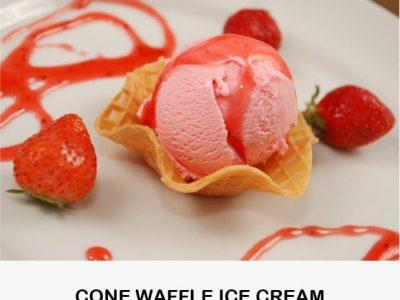 Cone Waffle Ice Cream
